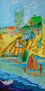 Mayakovsky'nin yaptığı bir tablo