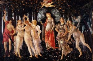İtalyan Botticelli primavera