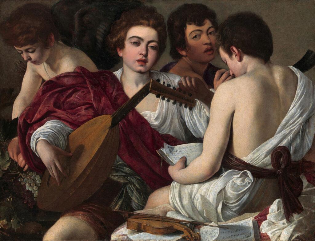 caravaggio the musicians 1595